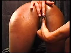 Smoking African girl gives her man a good blowjob before he ravishes her chocolate pussy